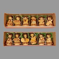 12 Small Wooden Christmas Ornaments
