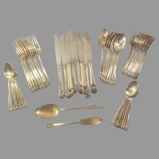 50 Piece 1847 Rogers Bros IS Eternally Yours  Silverplate Flatware Set
