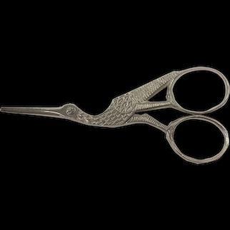 Revlon Italy Crane Embroidery/ Craft / Sewing Scissors