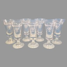 Set of 7 Jagermeister 2 cl Stag Goblet Shot Glasses