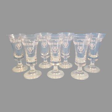 Set of 7 Jagermeister 2 cl Stag Goblet Shot Glasses
