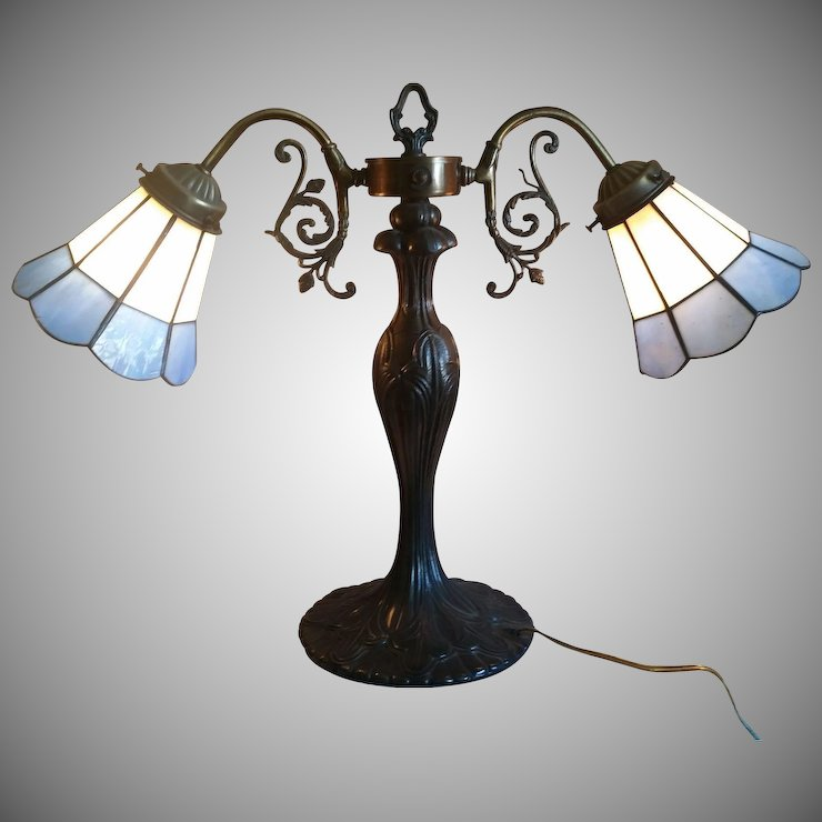 Vintage Ornate Double Arm Table Lamp Second Time Around Ruby Lane