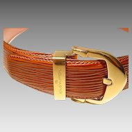 Vintage Louis Vuitton EPI Ladies' Belt - EPI Leather Orange Brown - Used - Excellent