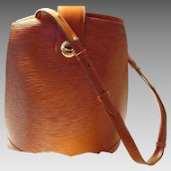 Vintage Louis Vuitton EPI Cluny Shoulder Bag - EPI Leather Orange Brown/ Brown Suede - Used - Excellent