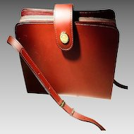 Vintage marie claire Ladies Shoulder Bag -- Burgundy Fine Leather -- Brand New Never Used