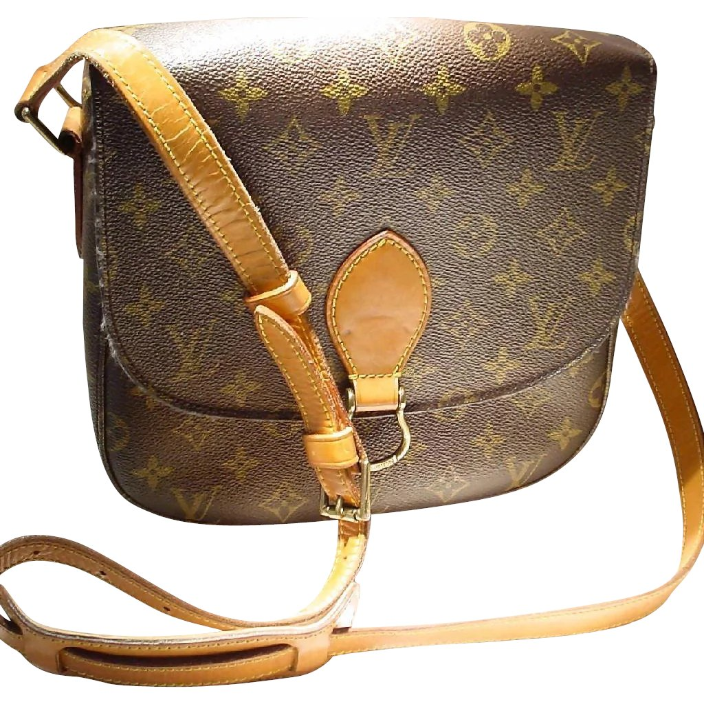 eda995969041 Vintage Louis Vuitton Saint Cloud MM Shoulder Bag - Monogram Canvas   Doray  Vintage Gems