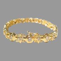 Stylish Diamond Tennis Bracelet 18K