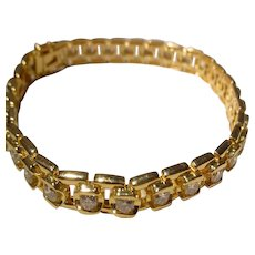 Finest Diamond Tennis Bracelet 18K - Super Exquisitely-Made 70's