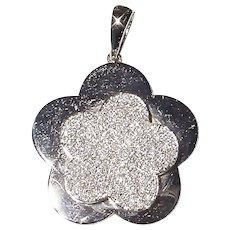 White Flower Diamond Pendant 18K W-Gold - Winter Wonders