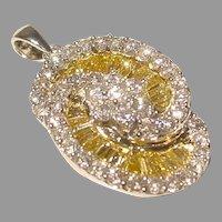 Shimmer Canary White Diamond Pendant 18K