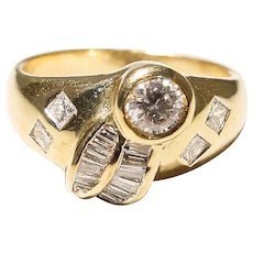 Combined Diamonds Anniversary Band - 18 KT Y-Gold
