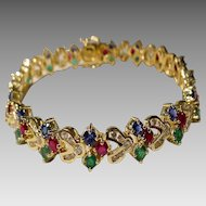 Beauty & Baubles Magnificent Multi-Gems Diamond Bracelet 18KT Yellow Gold - Grand Celebrations