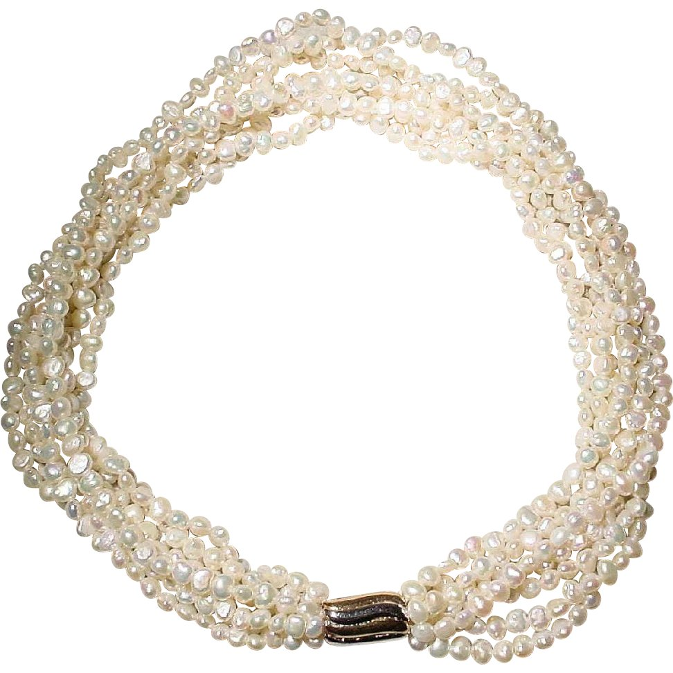 DF0010BN Fresh Water Pearl Necklace