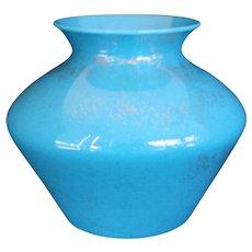 Cambridge Azurite Gold-sponged Vase