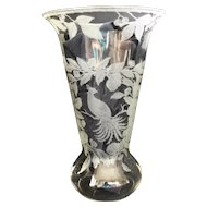 Cambridge Large Etched Crystal Vase