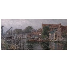 Wareham River Scene by Frederick Whitehead (1853-1938)