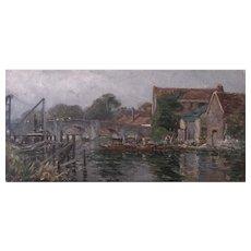 Wareham River Scene by Frederick Whitehead (1853-1938)