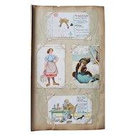 Wonderful British Edwardian Postcard Album Dated 1903