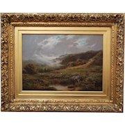 Atmospheric Highland Scene by Edmond G. Banks (British, 19th century)