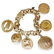 Fine Vintage 14K Gold Charm Bracelet