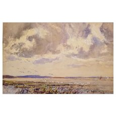 Expansive Dorset Scene Painting by Frederick Whitehead