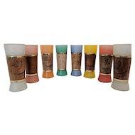 Wonderful Set of Vintage Siesta Ware Tiki Bar Glasses