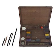 Charming Artist's Watercolor Paintbox from Turn of the Century