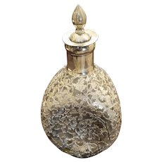 Haig Scotch Whiskey Decanter with Elaborate Sterling Silver Overlay