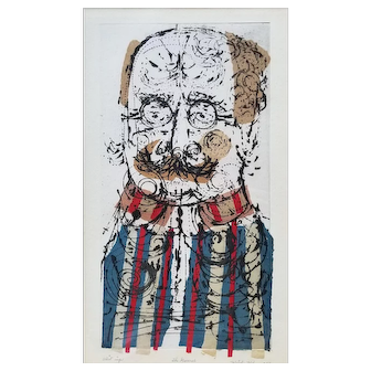 Misch Kohn (American, 1916-2002) Mid-century Collagraph