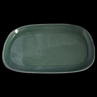 Russel Wright American Modern Platter in Seafoam Green Color