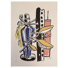 Modernist Serigraph of Still Life by Fernand Léger (French, 1881-1955)
