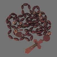 Vintage French Prayer Beads ~ Lourdes Souvenir Rosary Monk Prayer Beads