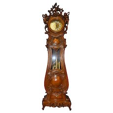 Italian Baroque Cherub Grandfathers Clock with Westminster Chimes