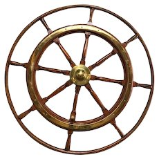 Antique Large Ships Wheel, European, Turn of the Century