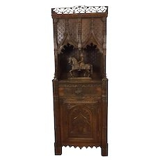 Opulent Antique French Cabinet, Carvings To Replicate Royal Chateau De Blois, 19th Century