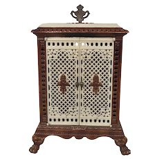 Antique French Porcelain & Cast Iron Stove, 19th Century