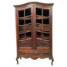 Nice Narrow Antique French Oak Bookcase, 1920's