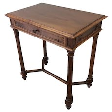 Nice Quality French Gothic Desk or Occasional Table, Walnut, 19th Century