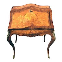Antique French Jewelry or Lingerie Chest 1930-40/'s Brass Accents #10137