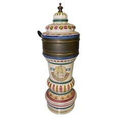 Antique Porcelain Beer Dispenser from Grimbergen Belgium, Turn of the Century