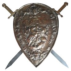 Nice Decorative Shield with Swords, 1940-50's