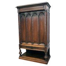 Fantastic Antique French Gothic Cabinet, Simple but Elegant, 19th Century, Walnut