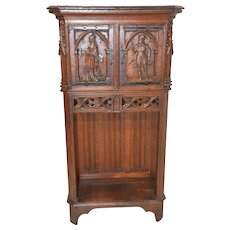French Gothic Cabinet, Smaller Model, Oak, 19th Century #10415
