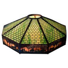 Handel 9 Panel Overlay Shade with Sunset Border Glass