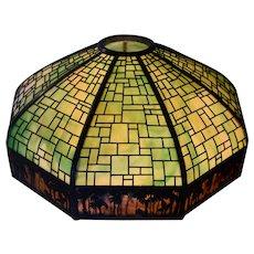 Handel Sunset Border Metal Overlay Lamp Shade