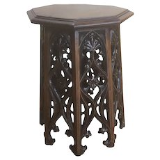 Great Antique French Gothic Stool, Oak, 19th Century