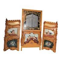 Painted European Circus Panels, Large,  Architectural, Cherubs & Floral #10526