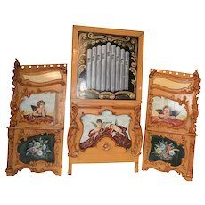 Painted European Circus Panels, Large,  Architectural, Cherubs & Floral #10526