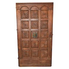 Antique French Door, Heavy & Thick, Oak, 19th Century #10541