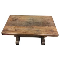 Rustic & Primitive Antique French Oak Table, Console Table, 19th Century